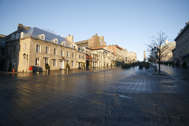 Place Jacques Cartier matinale