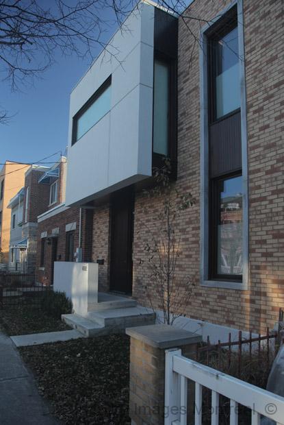Maison contemporaine sur saint urbain montr al for Maison moderne montreal
