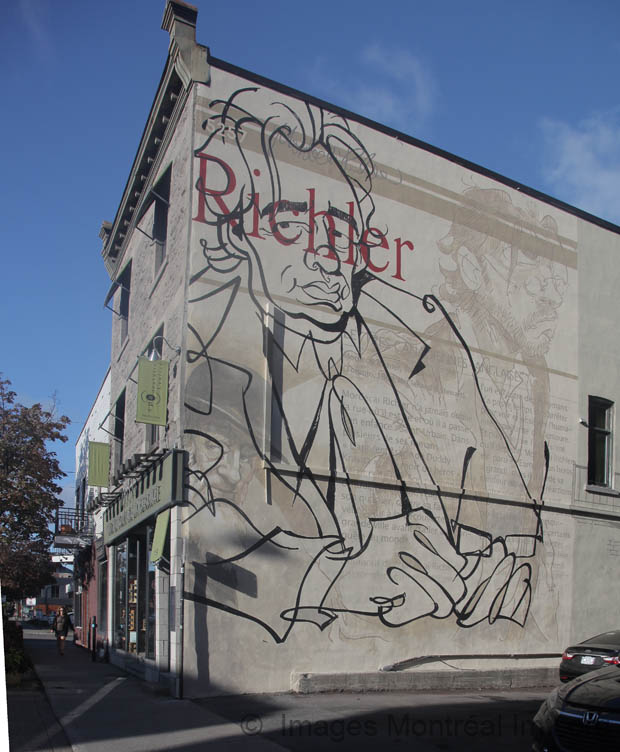 Tribute to Mordecai Richler Mural