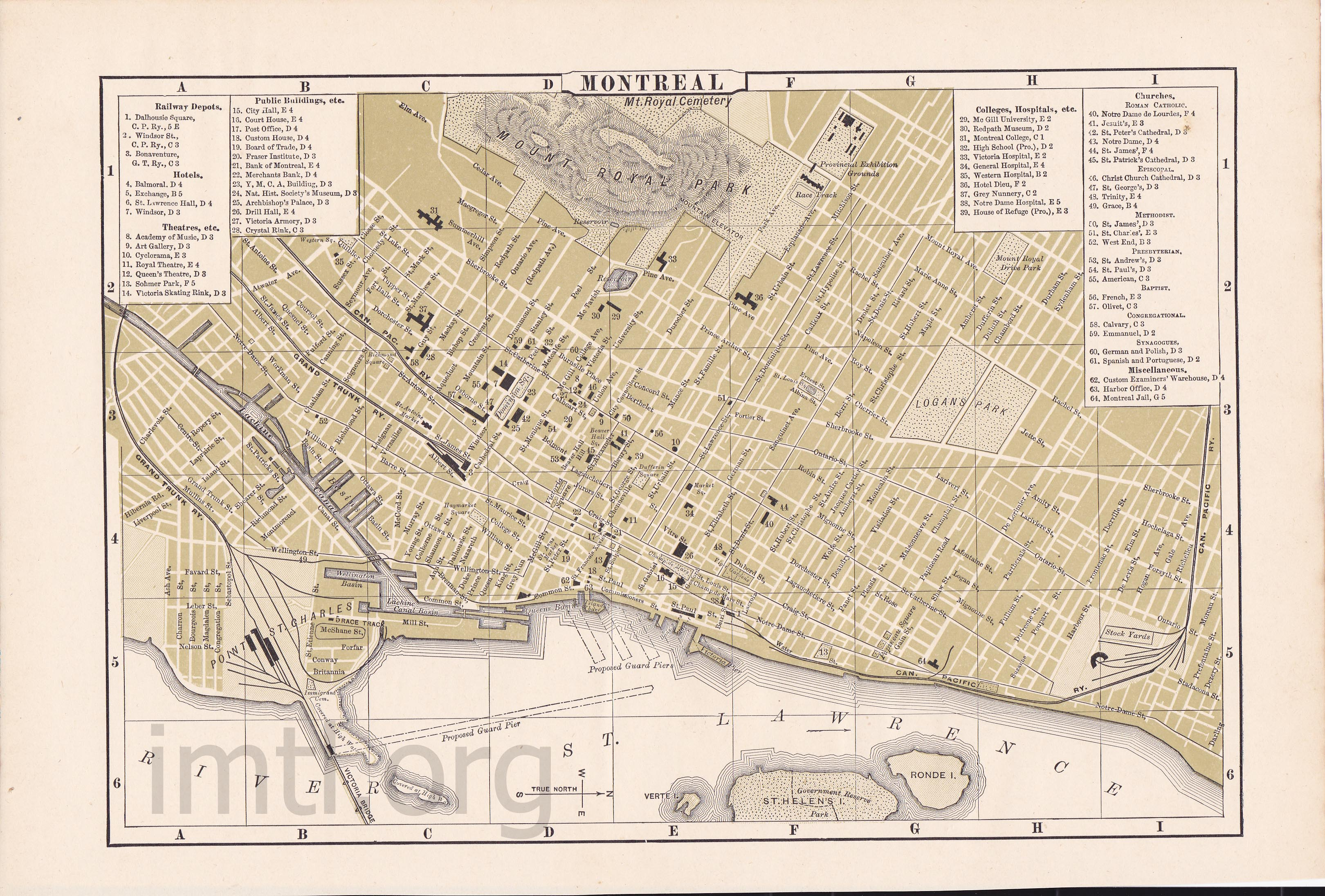 Montreal Maps - Old montreal map